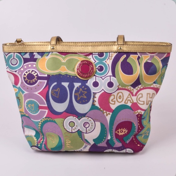 Coach Handbags - 🌻Coach Signature Poppy Pop C Tote Handbag 🌻